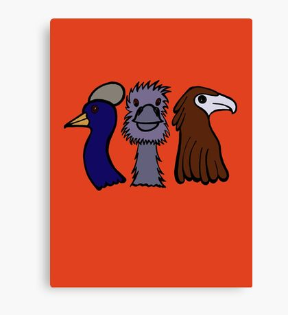 Bird Trio #3 Canvas Print