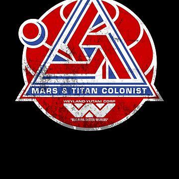 Alien Mars & Titan Colony Logo (scuffed) by Pango