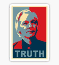 TRUTH, Julian Assange Sticker