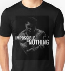 "Mohamed Ali ""impossible is nothing"" Unisex T-Shirt"