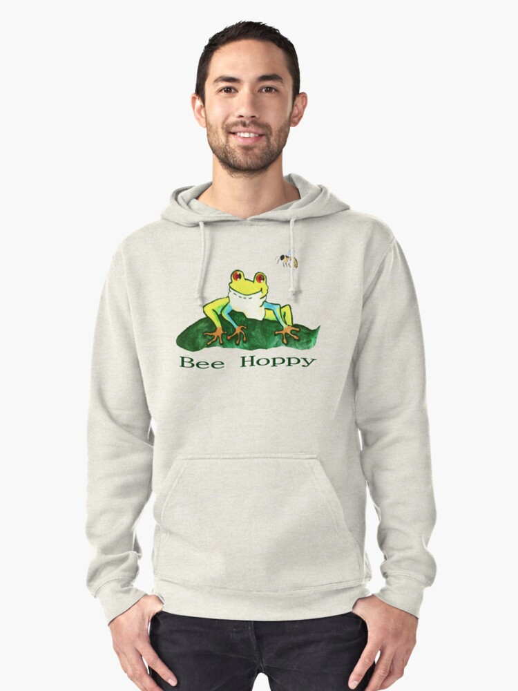 Bee Hoppy... Pullover Hoodie Front
