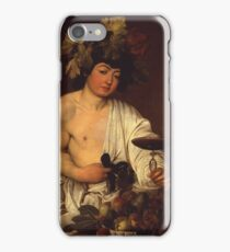 Caravaggio - The adolescent Bacchus 1595 - 1597 Fashion Portrait, Italian  iPhone Case/Skin