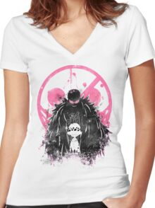 Doflamingo Art Women's Fitted V-Neck T-Shirt