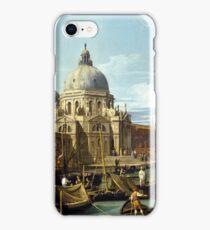 Canaletto Bernardo Bellotto - The Entrance to the Grand Canal, Venice  1730 iPhone Case/Skin