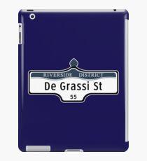 DeGrassi Street Sign, Riverside District, Toronto, Canada iPad Case/Skin