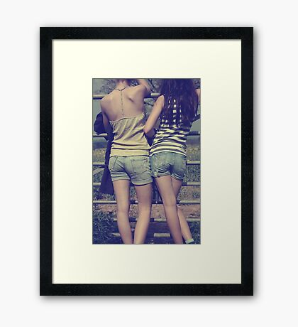 apparel for carefree days Framed Print