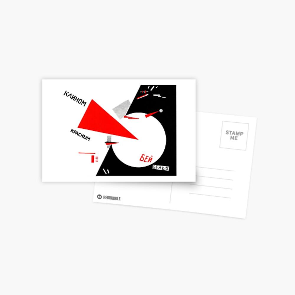 El Lissitzky - Beat the Whites Postkarte
