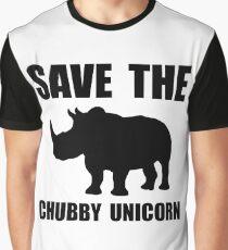Chubby Unicorn Rhino Graphic T-Shirt