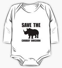 Chubby Unicorn Rhino One Piece - Long Sleeve
