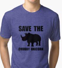 Chubby Unicorn Rhino Tri-blend T-Shirt