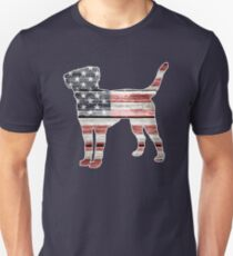 Patriotic Labrador Retriever, American Flag T-Shirt