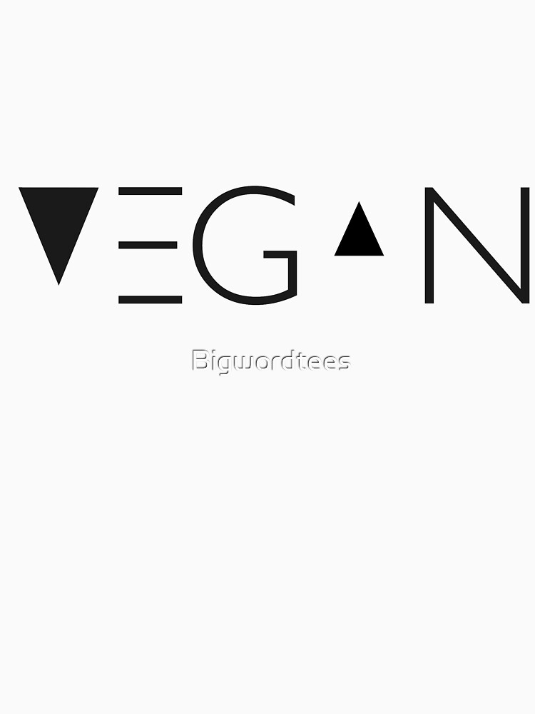 vegano conmigo de Bigwordtees