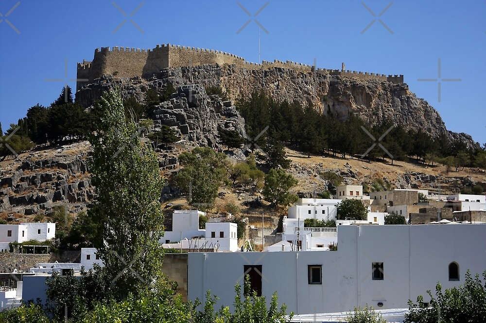 The Acropolis at Lindos by Tom Gomez