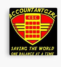 Accountantgirl Canvas Print