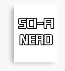 Sci Fi Nerd Canvas Print
