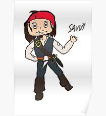 Chibi Captain Jack Sparrow Poster
