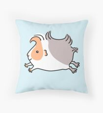 Leaping Guinea-pig - Apricot and Grey Throw Pillow