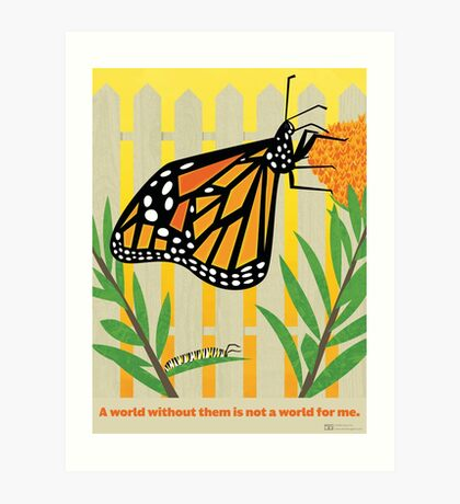 Monarch Conservation Poster Art Print