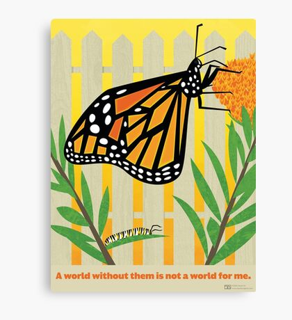 Monarch Conservation Poster Canvas Print
