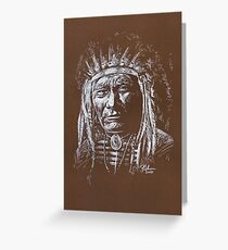Algonquin Chief Greeting Card