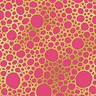 Gold-Pink-Hand gezeichnetes Juwel-Ton-geometrisches Kreismuster von dreamingmind