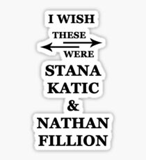 I wish these were Stana Katic and Nathan Fillion Sticker
