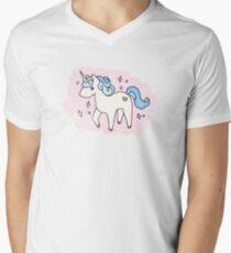 Unicorn Scatter Pattern Men's V-Neck T-Shirt