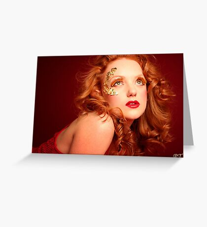 red lioness Greeting Card