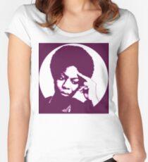 Nina Simone - beste afrikanische Sängerin Tailliertes Rundhals-Shirt