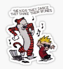 Calvin And Hobbes Dance Sticker