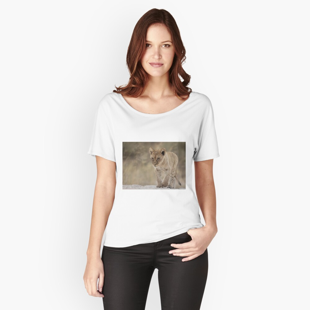 Lion cub with attitude Women's Relaxed Fit T-Shirt Front