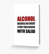 Alcohol Salad Greeting Card