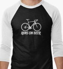 Runs on Beer - Road Bike Men's Baseball ¾ T-Shirt