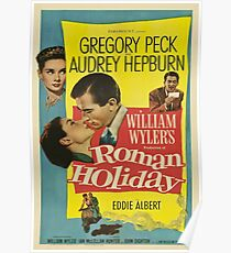 Roman Holiday Vintage Poster Poster