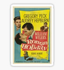 Roman Holiday Vintage Poster Sticker