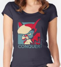 Conquer the World! Women's Fitted Scoop T-Shirt