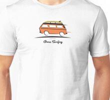 Orange Vanagon Caravelle Bulli Bus Gone Surfing  Unisex T-Shirt