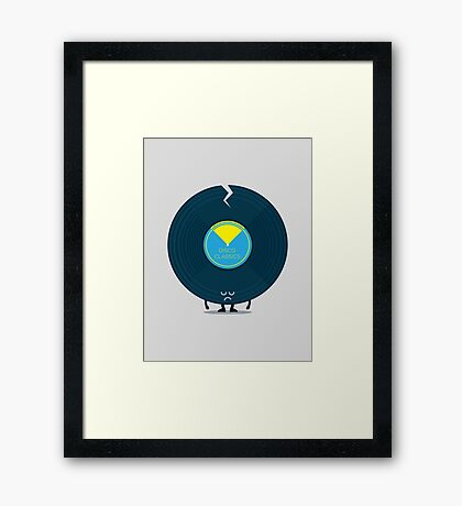 Character Building - Last Night a DJ Wrecked my Life Framed Print