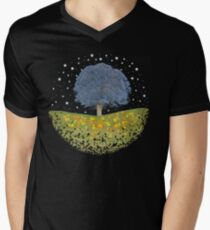 Starry Night Sky Men's V-Neck T-Shirt