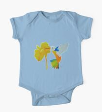 Hummingbird and flower watercolor painting One Piece - Short Sleeve
