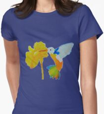 Hummingbird and flower watercolor painting T-Shirt