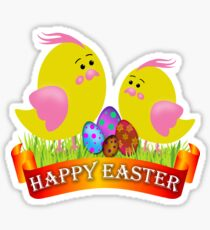 Easter Chicks Sticker