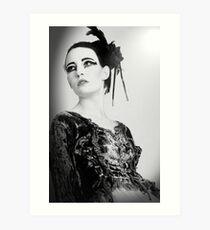 black and white swan Art Print