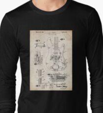 1961 Fender Precision Bass Guitar Patent Art T-Shirt