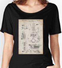 1961 Fender Precision Bass Guitar Patent Art Women's Relaxed Fit T-Shirt