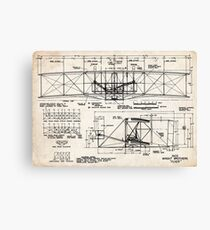 1903 Wright Flyer Airplane Invention Patent Art Canvas Print