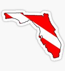 Dive flag Florida outline Sticker