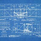 1903 Wright Flyer Airplane Invention Patent Art, Blueprint by Steve Chambers