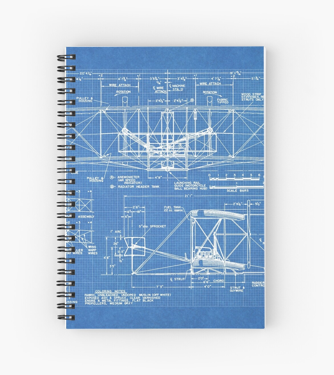 1903 wright flyer airplane invention patent art blueprint spiral 1903 wright flyer airplane invention patent art blueprint by steve chambers malvernweather Choice Image