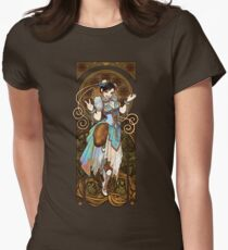 Strongest Woman in the World  (Art Nouveau China) Women's Fitted T-Shirt